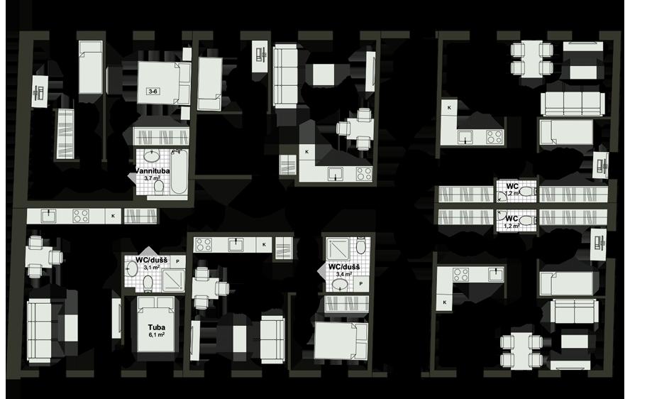 Kunderi 25 - Floor - 1